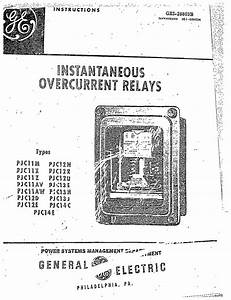 gei 28803b instantaneous overcurrent relays types pjc11m With general electric relay manuals