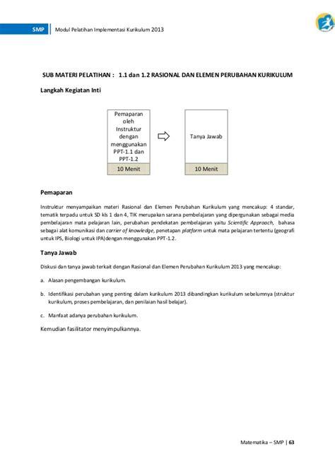 materi pelatihan implementasi kurikulum  bidang studi