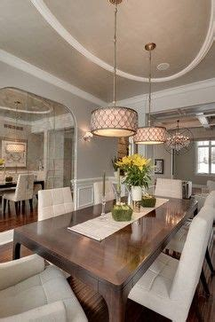 oval ceiling molding treatment  dining table elegant