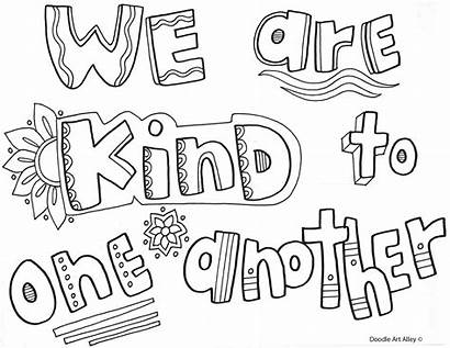 Coloring Classroom Kind Bullying Anti Rules Kindness