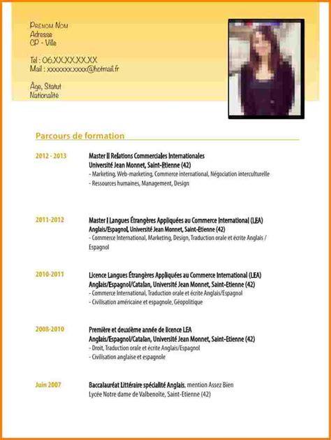 lettre motivation apprentissage cuisine 7 cv espagnol exemple modele lettre