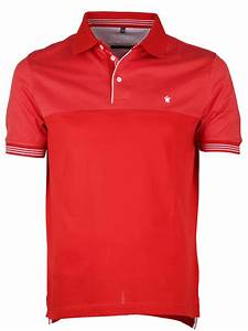 Louis Philippe men slim fit cotton plain red T-shirt - G3 ...