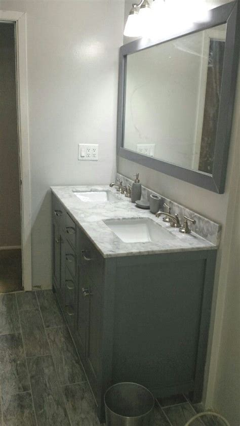 tempered gray wall paint from valspar gloss our bath had no window so i got daylight