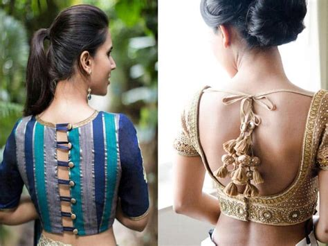 Blouse Back Neck Designs - 45 Awesome Collection To Keep ...