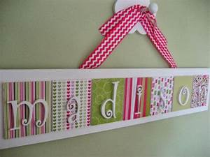 Personalized wooden wall letters name plaque by for Letter name signs