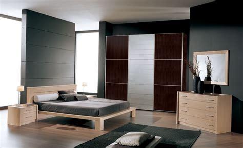 modern bedroom color schemes  simple natural wooden