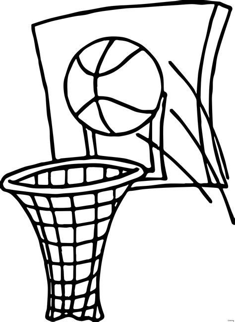 basketball drawing basketball net
