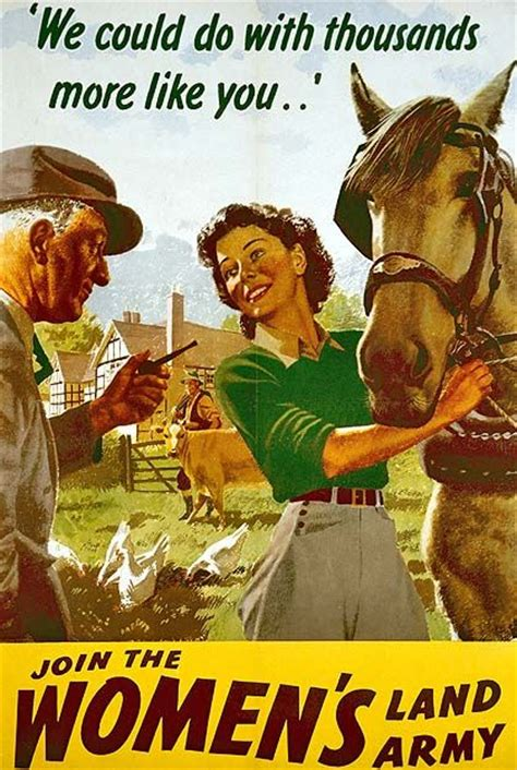 land army posters british ads war wwii