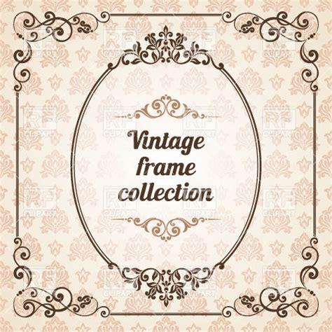 elegant ornate vintage decoration classic oval frame