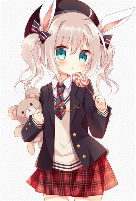 Animegirlmoekawaiilolischool Uniformbear
