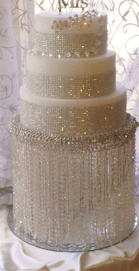wedding cake stand with crystals chandelier acrylic beads