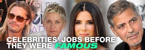 Celebrities Jobs Before They Were Famous