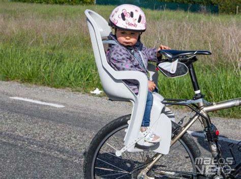 siege bebe velo suspendu mot clé casque enfant matos vélo actualités vélo de