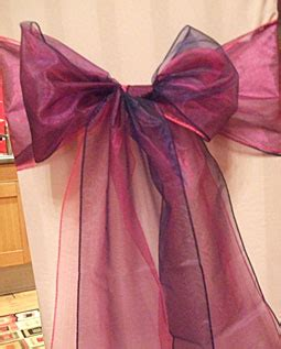organza chair sashes and bows to hire in cornwall