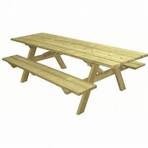 Table Bois Pique Nique : table de pique nique en bois table pour aire de repos table de camping en bois ~ Melissatoandfro.com Idées de Décoration