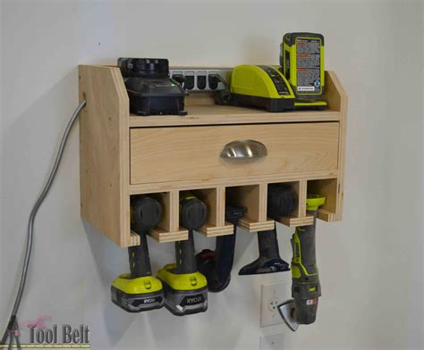 cordless drill storage charging station tool belt