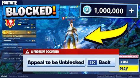 epic games blocked  fortnite account youtube