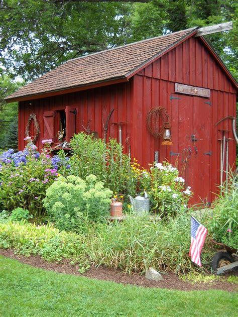 landscaping around a garden shed displaying vintage gardening tools fav garden spots pinterest