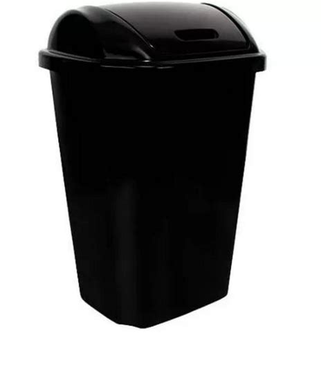 kitchen trash can with lid swing lid 13 5 gallon 51 liter plastic kitchen trash can