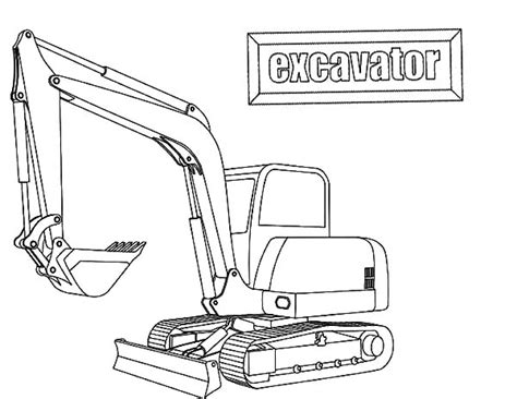 excavator coloring pages  print
