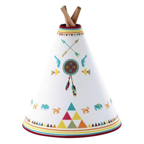 tipi maison du monde le enfant tipi en bois et abat jour coton multicolore h