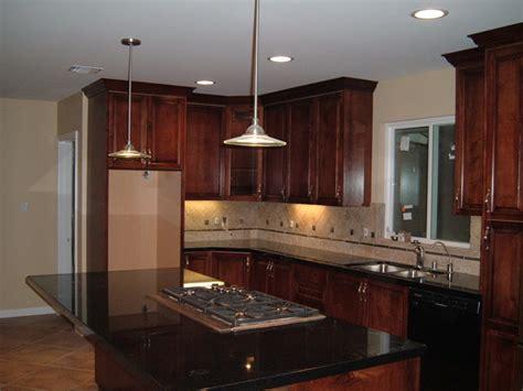 custom dark mahogany stained maple kitchen