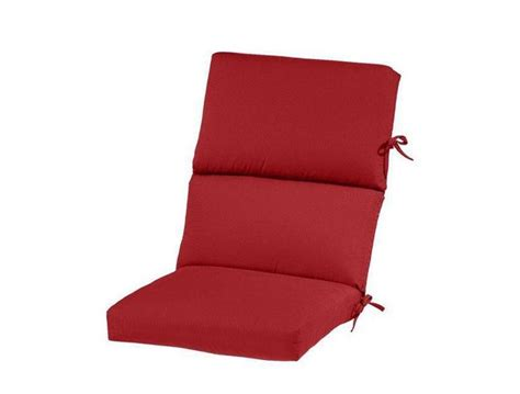 red high back outdoor patio chair recliner cushion solid