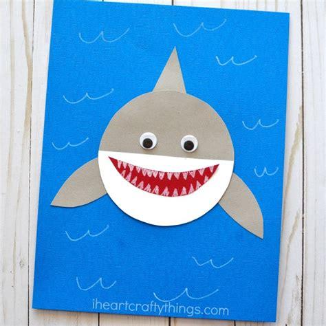shark week simple paper shark craft 850 | paper shark craft
