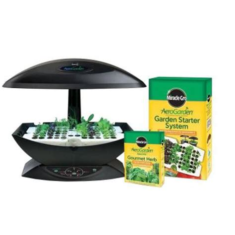 miracle gro aerogarden 7 indoor garden with gourmet herb