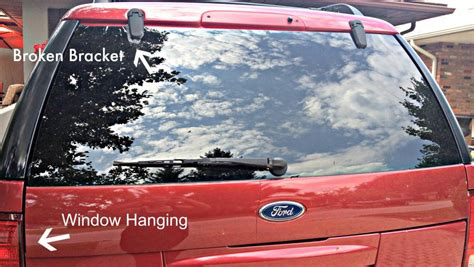 ford explorer rear window hinge fractured window