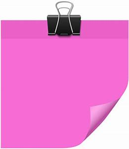 Sticky Note Pink PNG Clip Art - Best WEB Clipart