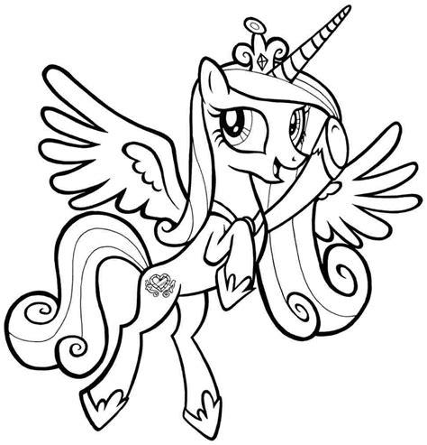 pony princess cadance   pony coloring