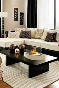 les tapis modernes 45 idees interessantes pour decorer With tapis berbere avec canapé club noir