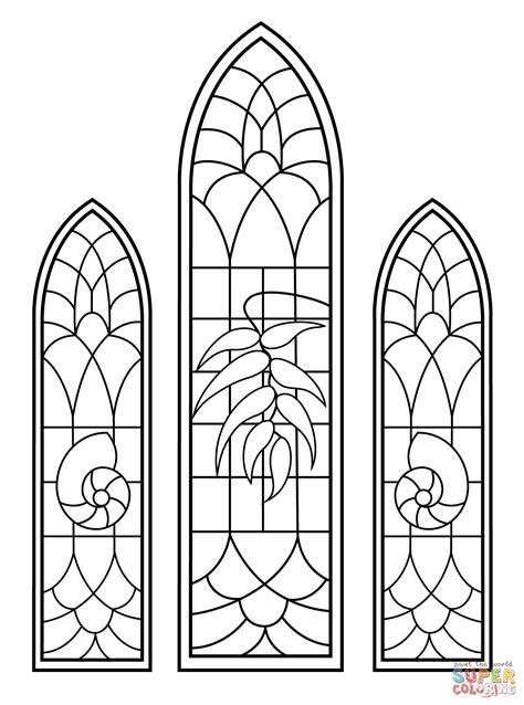 Ausmalbild Glasmalereifenster Aus Hochzeitskapelle