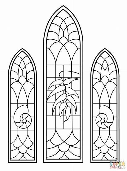 Coloring Stained Glass Window Beast
