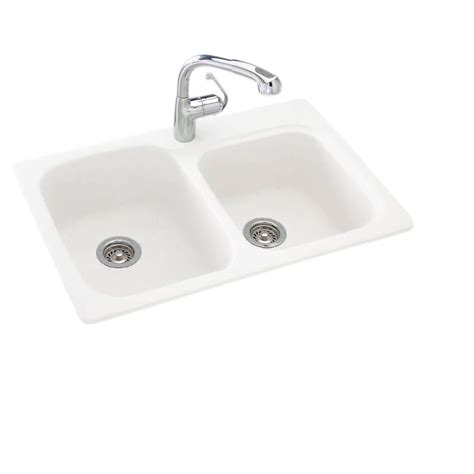 white undermount kitchen sink swan drop in undermount composite 33 in 1 55 45 1480