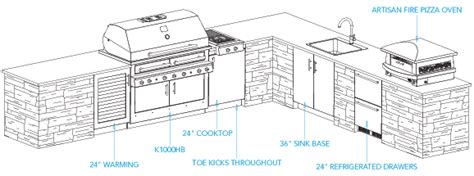 sample outdoor kitchen plan aspen layout outdoor