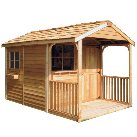 shop cedarshed clubhouse gable cedar storage shed common  ft   ft interior dimensions