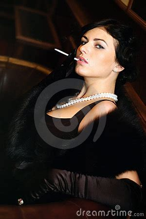 luxurious lady   cigarette vintage style royalty