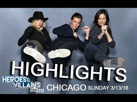 heroes and villians fan fest heroes and villains fan fest chicago sunday highlights