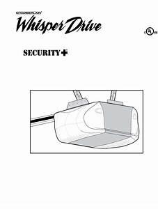 Chamberlain Garage Door Opener Wd822ks 1  2 Hp User Guide