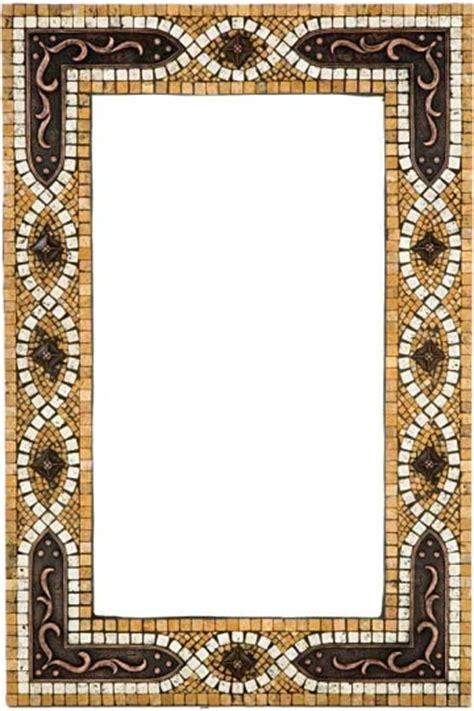 mosaic framed bathroom mirror mosaic mirror frame with metal inlay mediterranean
