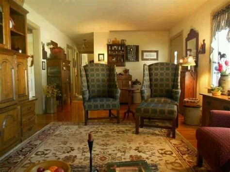colonial  early american living rooms images