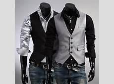 1a1900c3ea Men Formal Slim Fit Fake Pocket Design Casual Fashion V neck Suit Vest