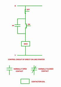 Control Circuit Of Direct On Line Starter