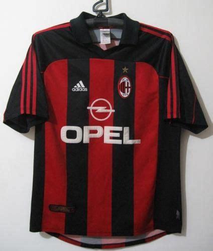 Ac Milan San Siro T Shirt ac milan home football shirt 2001 football team
