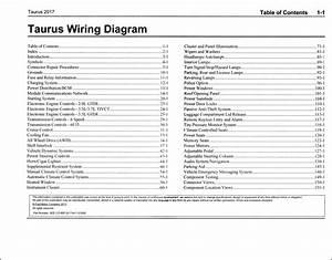 2017 Ford Taurus Wiring Diagram Manual Original
