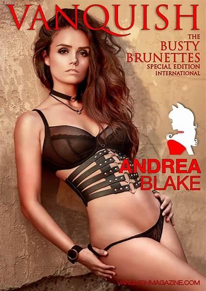 Vanquish Magazine Brunettes Busty Andrea Blake April