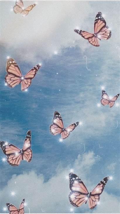 Aesthetic Butterfly Iphone Pantalla Lockscreen Pastel Fondos