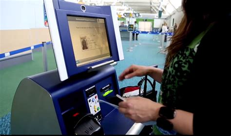 automated passport control kiosks    passengers
